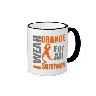 Multiple Sclerosis I Wear Orange Ribbon Survivors Coffee Mug