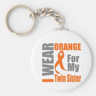 Multiple Sclerosis I Wear Orange Twin Sister Key Chains