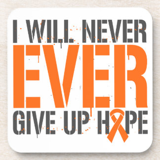 Multiple Sclerosis I Will Never Ever Give Up Hope Beverage Coasters