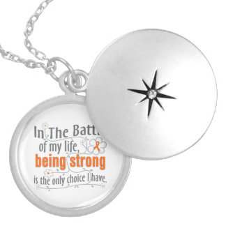 Multiple Sclerosis In The Battle Round Locket Necklace