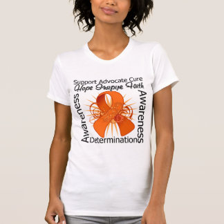 Multiple Sclerosis Inspirations Spiral Ribbon T Shirts