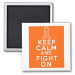 Multiple Sclerosis Keep Calm and Fight On Square Magnet
