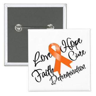Multiple Sclerosis Love Hope Determination 15 Cm Square Badge