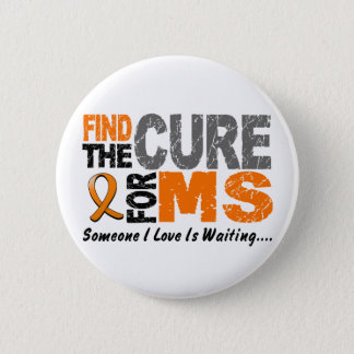 Multiple Sclerosis MS Find The Cure 1 6 Cm Round Badge
