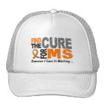Multiple Sclerosis MS Find The Cure 1 Trucker Hats