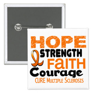 Multiple Sclerosis MS HOPE 3 15 Cm Square Badge