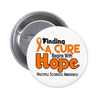 Multiple Sclerosis MS HOPE 5 6 Cm Round Badge