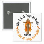 Multiple Sclerosis MS WITH GOD CROSS 1