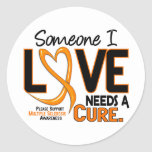 Multiple Sclerosis NEEDS A CURE 2 Round Sticker