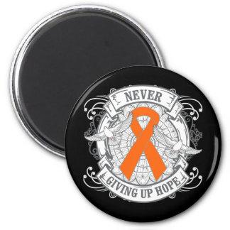 Multiple Sclerosis Never Giving Up Hope Fridge Magnet