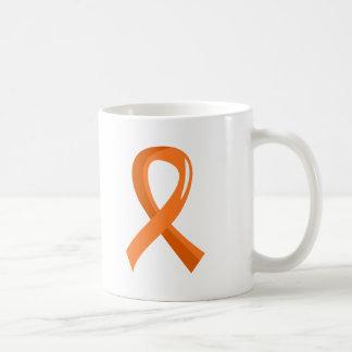 Multiple Sclerosis Orange Ribbon 3 Basic White Mug
