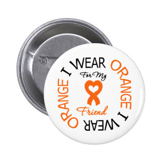 Multiple Sclerosis Orange Ribbon Friend 6 Cm Round Badge