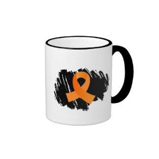 Multiple Sclerosis Orange Ribbon With Scribble Mug