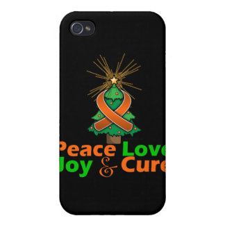 Multiple Sclerosis Peace Love Joy Cure Covers For iPhone 4