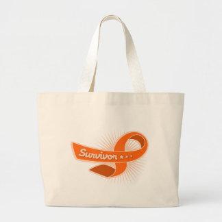 Multiple Sclerosis Survivor Ribbon Tote Bag