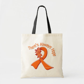 Multiple Sclerosis There's Always Hope Floral Canvas Bags