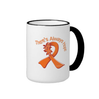 Multiple Sclerosis There's Always Hope Floral Coffee Mugs
