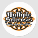 Multiple Sclerosis Tribal Round Sticker
