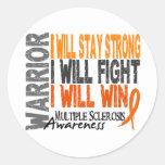 Multiple Sclerosis Warrior Round Sticker