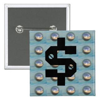 $ Multiple Silver Spheres Pin