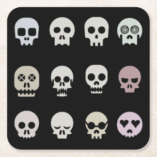 Multiple Skull Paper Coaster