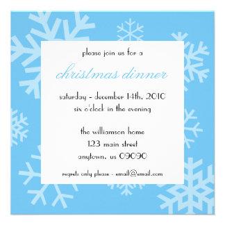 Multiple Snowflakes Christmas Invitation Lt Blue
