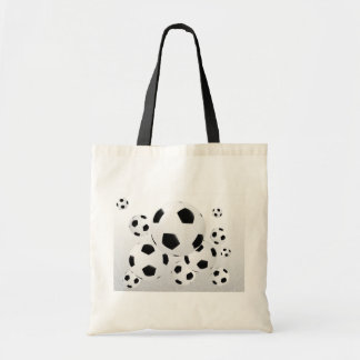 Multiple Soccer Balls Tote Bag