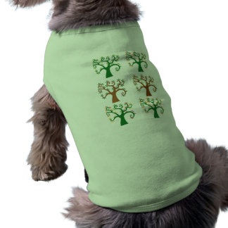 Multiple Tree Design Sleeveless Dog Shirt