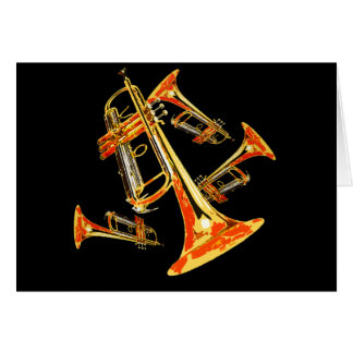 Multiple Trumpets Card