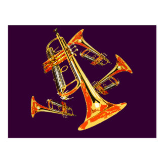 Multiple Trumpets Postcard