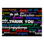 Multiple Ways to Say Thank You in Many Languages Note Card