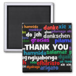 Multiple Ways to Say Thank You in Many Languages Square Magnet