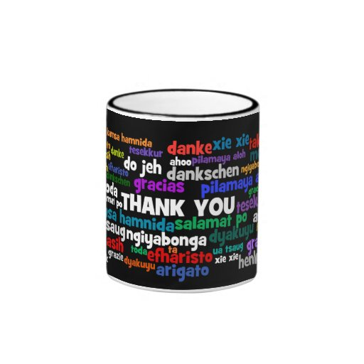 Multiple Ways to Say Thank You in Many Languages Coffee Mugs