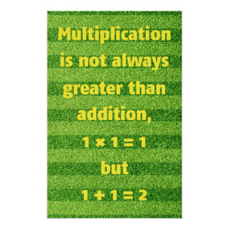 Multiplication and Addition - Math Poster