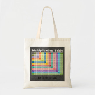 multiplication table classroom instant calculator tote bag