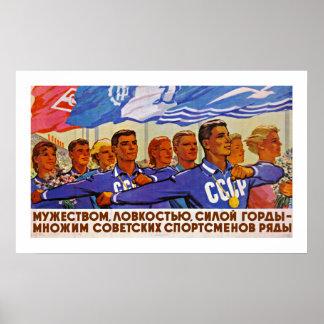 Multiply the Ranks of Soviet Sportsmen Poster