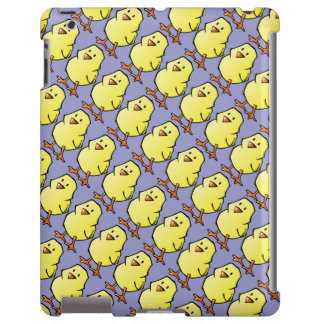 Multiplying Chickens Tiled Pattern on Purple
