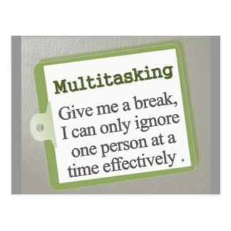 Multitasking  postcard