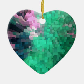 Multitude of colour ceramic heart decoration