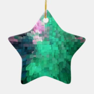 Multitude of colour ceramic star decoration
