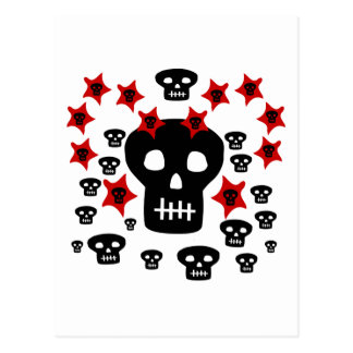 Multitude of Skulls With Weird Stars Postcard