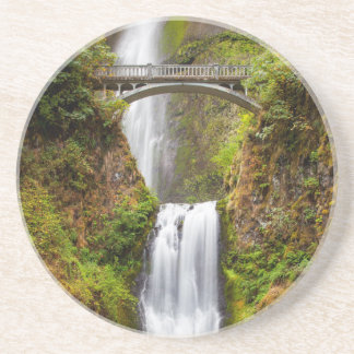Multnomah Falls Along The Columbia River Gorge 2 Drink Coaster