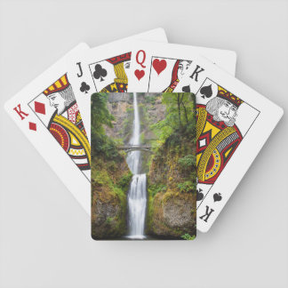 Multnomah Falls Along The Columbia River Gorge Playing Cards
