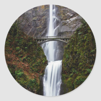 Multnomah Falls Classic Round Sticker