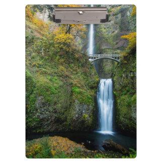 Multnomah Falls In Autumn In The Columbia Gorge Clipboard