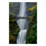 Multnomah Falls in Fall Poster