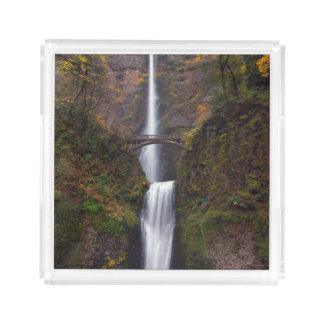 Multnomah Falls in late Autumn Acrylic Tray