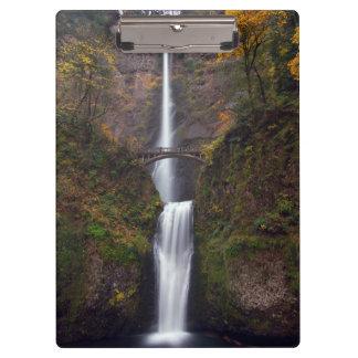 Multnomah Falls in late Autumn Clipboards