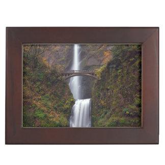 Multnomah Falls in late Autumn Keepsake Box