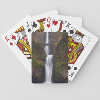 Multnomah Falls in late Autumn Playing Cards